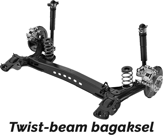 Twist-beam bagaksel